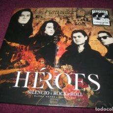 Discos de vinilo: HEROES DEL SILENCIO - HEROES SILENCIO Y ROCK&ROLL - SUS VIDAS SU HISTORIA SUS LEYENDAS ..2 LP´S. Lote 263070790