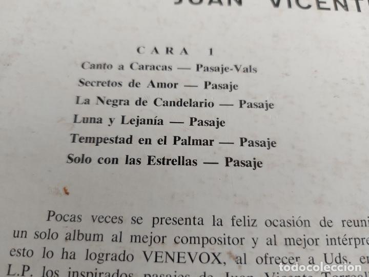 Discos de vinilo: MARIO SUAREZ CANTA A JUAN VICENTE TORREALBA / LP - VENE VOX / MBC. ***/*** - Foto 3 - 263070880