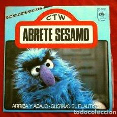 Discos de vinilo: ABRETE SESAMO (SINGLE 1976) BANDA SONORA DE LA SERIE DE TV - ARRIBA Y ABAJO - GUSTAVO - BARRIO. Lote 263074675