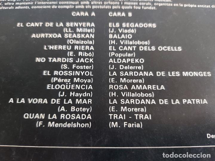 Discos de vinilo: ORFEÓ BADALONÍ / CANÇONS DARREU DEL MÓN / LP - SELECTOR-1978 / MBC. ***/*** - Foto 3 - 263075670