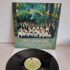 Discos de vinilo: ORFEÓ BADALONÍ / CANÇONS D'ARREU DEL MÓN / LP - SELECTOR-1978 / MBC. ***/***. Lote 263075670