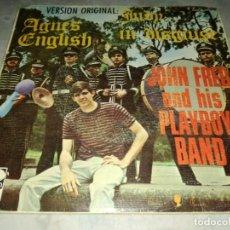 Discos de vinilo: JOHN FRED AND HIS PLAYBOY BAND-AGNES ENGLISH-ORIGINAL ESPAÑOL 1968. Lote 263076040