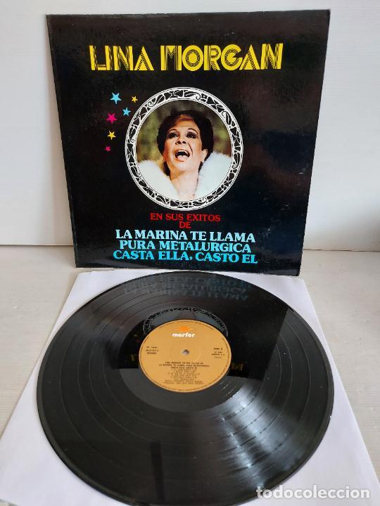 LINA MORGAN EN SUS ÉXITOS DE LA MARINA TE LLAMA / LP-GATEFOLD - MARFER-1980 / MBC. ***/*** (Música - Discos - LP Vinilo - Solistas Españoles de los 70 a la actualidad)