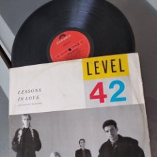 Discos de vinilo: LEVEL 42 - LESSONS IN LOVE (EXTENDED VERSION). Lote 263079170