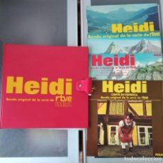 Discos de vinilo: HEIDI - ESTUCHE ORIGINAL DE LA SERIE DE TVE + 4 LP'S. Lote 263080205