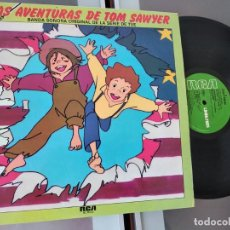Discos de vinilo: LAS AVENTURAS DE TOM SAWYER - LP BANDA SONORA ORIGINAL DE SERIE DE TVE. Lote 263081000