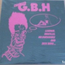 Discos de vinilo: G.B.H. (LP) LEATHER, BRISTLES, NO SURVIVORS AND SICK BOYS AÑO 1982. Lote 263083120