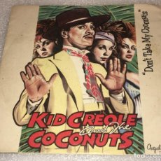 Discos de vinilo: SINGLE KID CREOLE AND THE COCONUTS - DON'T TAKE MY COCONUTS - GOING PLACES -PEDIDO MINIMO 7€. Lote 263084935