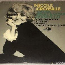 Discos de vinilo: EP NICOLE CROISILLE - VIVIR PARA VIVIR Y OTROS TEMAS - HISPAVOX HAZ277.30 -PEDIDO MINIMO 7€. Lote 263088635
