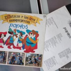 Discos de vinilo: D'ARTACAN Y LOS TRES MOSQUETEROS - POPITOS. Lote 263102550