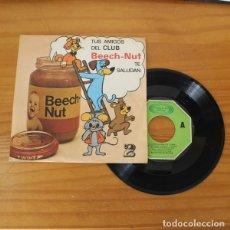 Discos de vinilo: RELATOS INFANTILES CLUB BEECH-NUT 2 -EP VINILO 7''- EL LIBRO DE LA SELVA. Lote 263107525