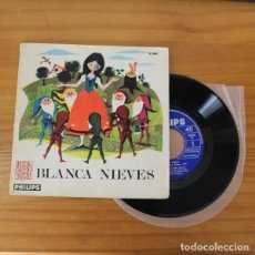 Discos de vinilo: BLANCA NIEVES -SINGLE VINILO 7''- DISCO LIBRO PHILIPS CUENTO BLANCANIEVES. Lote 263107555