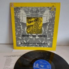 Discos de vinilo: ORFEÓ ENRIC MORERA / CONCERT DE L'ATENEU DE SANT JUST DESVERN / LP-HISPAVOX-1973 / MBC. ***/***. Lote 263107850