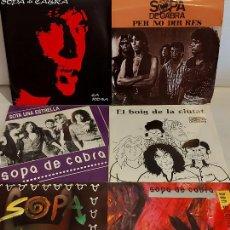 Discos de vinilo: SOPA DE CABRA / 6 SINGLES IMPECABLES SIN USO / VER LAS FOTOS.. Lote 289443958