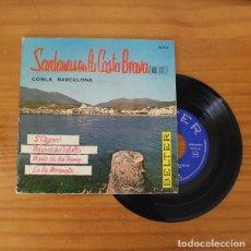 Discos de vinilo: COBLA BARCELONA -EP VINILO 7''- S'AGARO / RECORD DE CALELLA / MARIA DE LES TRENES / ES LA MORENETA. Lote 263108890