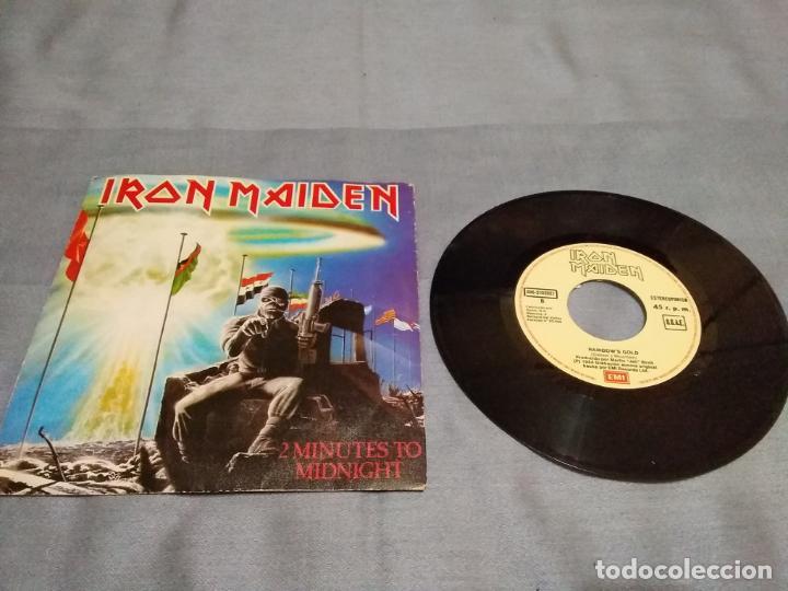 IRON MAIDEN 2 MINUTES TO MIDNIGHT (SINGLE VINILO AÑO 1984 CON DOS TEMAS) EMI EDICIÓN ESPAÑOLA (Música - Discos - Singles Vinilo - Heavy - Metal)