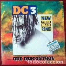 Discos de vinilo: DC 3, QUE DESCONTROL, MAXI FONOMUSIC, SPAIN 1993. Lote 263118135