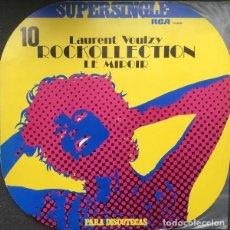 Discos de vinilo: LAURENT VOULZY - ROCKOLLECTION + LE MIROIR MAXI SINGLE RCA 1977. Lote 263119195