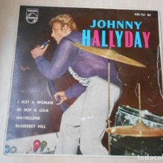Discos de vinilo: JOHNNY HALLYDAY, EP, I GOT A WOMAN + 3, AÑO 1962. Lote 263125130