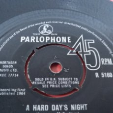 Discos de vinilo: THE BEATLES.** A HARD DAY'S NIGHT * THINGS WE SAID TODAY **. Lote 263130860