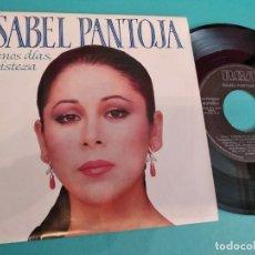 Discos de vinilo: ISABEL PANTOJA BUENOS DIAS,TRISTEZA/PARA SOBREVIVIR 7'' SINGLE 1989 RCA. Lote 263135500