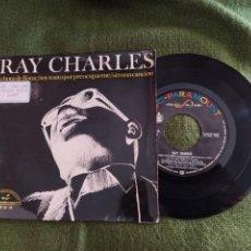 Discos de vinilo: RAY CHARLES- EP LA HORA DE LLORAR + SOY TONTO POR PREOCUPARME + SIN UNA CANCIÓN 1966 SPAIN. Lote 263135625