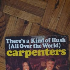 Discos de vinilo: CARPENTERS ‎– THERE'S A KIND OF HUSH (ALL OVER THE WORLD) LABEL: A&M RECORDS ‎– 625 053. Lote 263148835