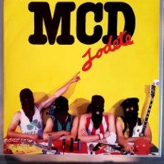 Discos de vinilo: M.C.D. -LP 1989 JODÉTE ,POSTER ,LIBRETO Y ADESHIVO.. Lote 263151655