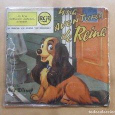 Discos de vinilo: SINGLE - UNA AVENTURA DE REINA - CUENTO DE WALT DISNEY - RCA - 1958. Lote 263151750