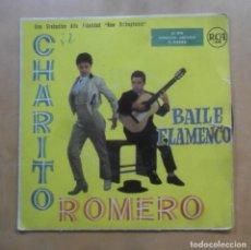 Discos de vinilo: SINGLE - CHARITO ROMERO, BAILE FLAMENCO - RCA - 1958. Lote 263153875