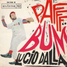 Discos de vinilo: 45 GIRI EP LUCIO DALLA PAFF BUM +3 RCA VICTOR 1966 L'ORA DI PIANGERE MADE IN FRANCE SANREMO 1966. Lote 263159540