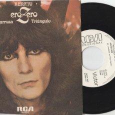 Discos de vinilo: 45 GIRI RENATO ZERO LA CAROZA / TRIANGULO PROMO RCA PB-6377 SPAIN PROMO RARO MADRID 1979. Lote 263160365