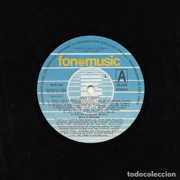Discos de vinilo: BILLY OCEAN * LP VINILO * RED LIGHT * SPAIN 1988 - Foto 2 - 263162400