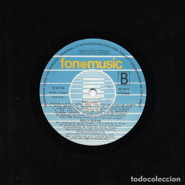 Discos de vinilo: BILLY OCEAN * LP VINILO * RED LIGHT * SPAIN 1988 - Foto 3 - 263162400