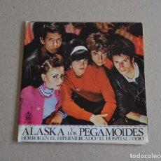"""Discos de vinil: ALASKA Y LOS PEGAMOIDES - HORROR EN EL HIPERMERCADO (7"""" EP PROMO). Lote 263163985"""