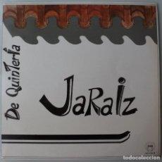 Discos de vinilo: JARAIZ - DE QUINTERIA (LP SAGA 1986) FOLK MANCHEGO · VINILO EN MUY BUEN ESTADO. Lote 263165815