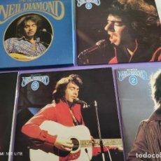 Discos de vinilo: CAJA 4 LPS. THE BEST OF NEIL DIAMOND. READERS DIGEST GDM A 4 052.SWEET CAROLINE/SHILO/CHERRY CHERRY.. Lote 263172135