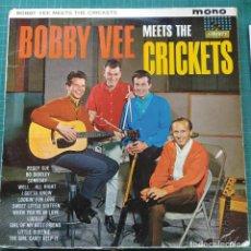 Discos de vinilo: BOBBY VEE AND THE CRICKETS - BOBBY VEE MEETS THE CRICKETS (LP, ALBUM, MONO) (1962/UK). Lote 263173380