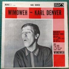 Discos de vinilo: KARL DENVER - WIMOWEH (LP) (ACE OF CLUBS) (1961/UK). Lote 263173730