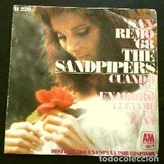 Discos de vinilo: THE SANDPIPERS (SINGLE 1968) XVIII FESTIVAL DE SAN REMO - SANREMO - CUANDO ME ENAMORO. Lote 263180575
