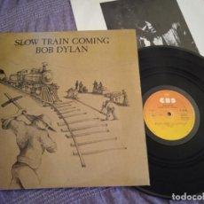 Discos de vinilo: BOB DYLAN LP. SLOW TRAIN COMING. MADE IN SPAIN. 1979.. Lote 263184150