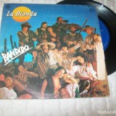 Discos de vinilo: LA BIONDA - BANDIDO + THERE IS NO OTHER WAY ..SINGLE AÑO 1979 - DANCE PISTAS. Lote 263196935