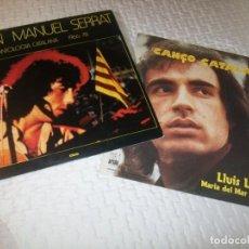 Discos de vinilo: LOTE DE 2 LP´S - MUSICA CATALANA ..JOAN MANUEL SERRAT, LLIS LLACH Y MARIA DEL MAR BONET. Lote 263197465