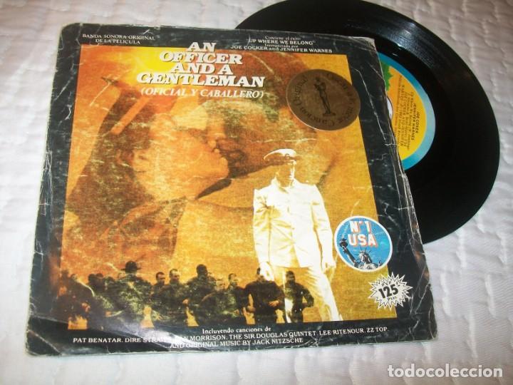 OFICIAL Y CABALLERO - JOE COCKER .. BANDA SONORA ORIGINAL. ..SINGLE 1982 - DE ISLAND (Música - Discos - Singles Vinilo - Bandas Sonoras y Actores)