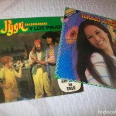 Discos de vinilo: LOTE DE 2 LP´S MUSICA INFANTIL - TERESA RABAL Y PIPI CALZASLARGAS - BUEN ESTADO. Lote 263200350