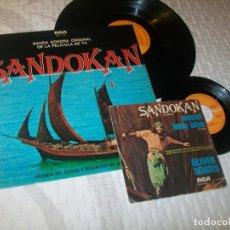 Discos de vinilo: SANDOKAN - GUIDO Y MAURIZIO DE ANGELIS ..LP DE RCA 1976 - OLIVER ONIONS + SINGLE ..ESPAÑOLES. Lote 263200655