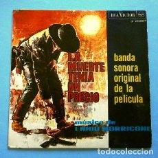 Discos de vinilo: LA MUERTE TENIA UN PRECIO (BSO EP 1965) BANDA SONORA DEL FILM MUSICA ENNIO MORRICONE. Lote 263203600