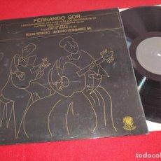 Discos de vinilo: ROCIO HERRERO & ANTONIO HERNANDEZ GIL FERNANDO SOR. CLASSIC GUITAR LP 1983 THE GOLDEN EYE SPAIN EX. Lote 263234110