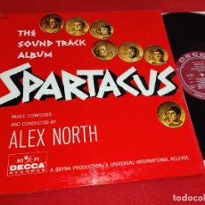 Discos de vinilo: SPARTACUS ESPARTACO BSO OST ALEX NORTH LP 1960 DECCA EDICION AMERICANA USA GATEFOLD. Lote 263234935