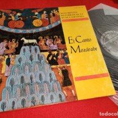 Discos de vinilo: MONUMENTOS HISTORICOS MUSICA ESPAÑOLA CANTO MOZARABE LP 1981 MINISTERIO EDUCACION CORAL MONTSERRAT. Lote 263235310